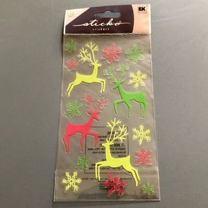 Christmas Reindeer Snowflakes Scrapbook Stickers